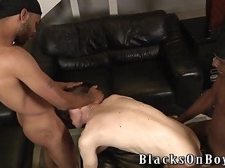 Salacious Twink Aiden Gets Fucked And Facialed By Two Black Gays